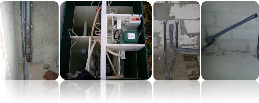 Фотографий готовой работы по монтажу канализации в коттеджах