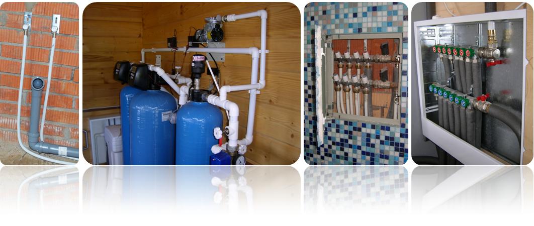 Фотографий готовой работы по монтажу водоснабжения дома
